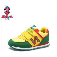 供应新品上市 韩版儿童时尚拼色魔术贴运动鞋 舒适透气耐磨童款运动鞋