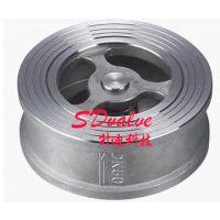 供应供应H71不锈钢对夹止回阀单向阀