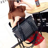 新款2014韩版潮流个性满天星钉子包单肩斜跨手提包时尚女士包