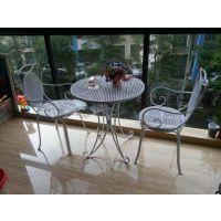 欧式铁艺餐桌椅子户外现代简约休闲阳台庭院组合三件套小圆桌