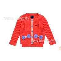 HG外贸童装批发14韩版ALLO女童 春秋 童针织衫 外套  原单