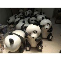 供应熊猫雕塑|熊猫雕塑模型|卡通加菲猫雕塑|幻彩熊猫|