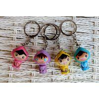 工厂批发 枝木多彩娃娃钥匙扣 汽车钥匙链挂饰 创意卡通娃娃挂件