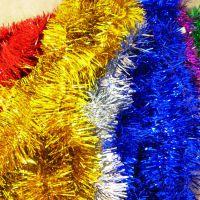 TD-M1婚庆喜庆节庆用品圣诞装饰彩条 六一教室场景布置毛条彩条
