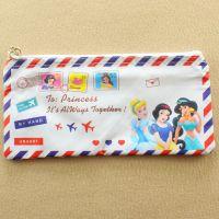 迪士尼白雪公主灰姑娘卡通笔袋化妆袋信封邮票造型杂物包文具用品