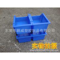 工业用品塑料零件盒 车间货架专用斜口物料盒 斜口塑胶储物盒