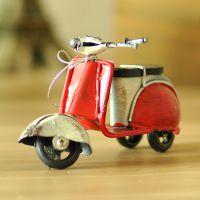 一优 乡村铁艺创意踏板小绵羊迷你桌面小摆件复古摩托车模型批发