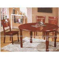 【【厂家直销】】折叠1+6长圆两用橡木餐厅桌子/餐桌/餐台