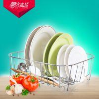 厂家供应外贸出口创意厨房用品碗碟架沥水架简约实用金属碗碟架