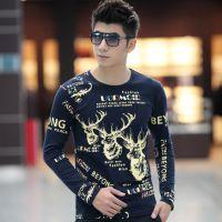 厂家直销男装春装厂家直销新款韩版上衣棉打底衫男士长袖男t恤#
