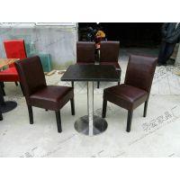 明宏厂家生产实木架酒店餐椅 PU皮制高档餐厅椅子 MH-CY-1