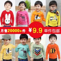 2014韩版女童宝宝春装新款男童装儿童长袖t恤打底衫潮