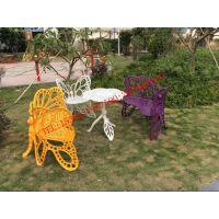 佛山铸铝户外家具 别墅休息区的铸铝桌椅
