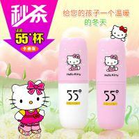 新款Hello Kitty 卡通版55度杯子保温水杯 快速降温变温杯KT猫杯