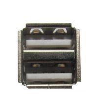 h 厂家出货,白色塑胶 双层USB母座