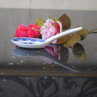 供应景德镇骨瓷米饭勺子 仿古青花小汤匙调羹 厨房餐饮用具18008