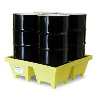 安徽贝辉供应4桶盛漏托盘5001-YE 4桶防泄漏托盘 4桶油桶托盘
