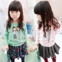 2014秋装新款女童打底衫长袖 韩版童装 儿童T恤上衣