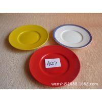 自助餐陶瓷盘 西餐圆盘 蛋糕盘纯白餐具纯色浅式盘碟子批发A557