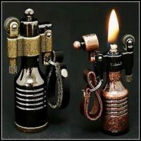高档砂轮煤油打火机创意 精灵款式 造型奇特 3色