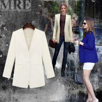 欧美外贸女装 长袖镶肩大牌修身小西装批发 外套优雅小西服Z9261