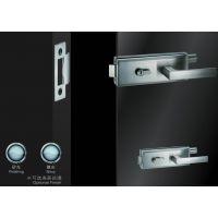供应酒店,物业,学校房间玻璃门锁不锈钢 横方单边双执手锁超b级锁芯JU-W519玻璃门锁