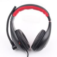 悦乐YO-888 头戴式立体声耳机 带软管麦克风 可调节高档皮质耳机