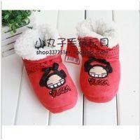 原单中国娃娃儿童棉鞋保暖靴童 居家靴保暖鞋
