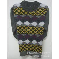2014新 厂家直销批发小童纯棉毛衣  童针织衫毛衣  圆领套头
