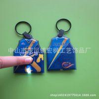 外贸出口钥匙扣 pvc带灯钥匙扣 透明亚克力钥匙扣 反光钥匙挂件