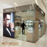 供应CK手表展柜 玻璃展示柜 商场中岛展示柜 广州展柜厂生产精品展柜