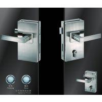 供应酒店,物业,学校房间玻璃门锁不锈钢竖方双边双执手锁 超b级锁芯JU-W518玻璃门锁