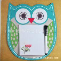 可爱猫头鹰造型磁性便签本 广州厂家专业定制广告促销礼品