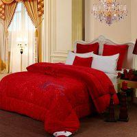 新款冬被加厚大红婚庆保暖被芯正品挚爱热熔棉被 免费加盟