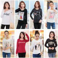 系列爆款2015春装新款韩版纯棉t恤女上衣百搭修身打底衫针织衫