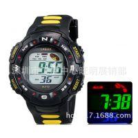 儿童手表男孩运动电子表计时码表日历防水夜光闹铃中学生腕表