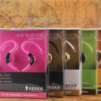 KEEKA 奇卡时尚稳重  新款带麦克风挂耳耳机  低音效果强ka-34