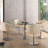 武汉哪家荼餐厅好?上品家具厂家直销[SP-DST650】优质西皮软包椅玻璃桌现代风格休闲荼餐厅桌椅