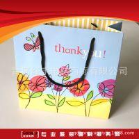 纸袋印刷 定制创意韩版儿童服装礼品袋 白板纸正方形竖版手提袋