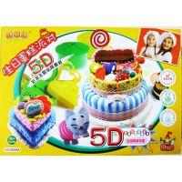 正品阿拿琪5D彩泥玩具套装 新鲜的水果 雪糕店生日蛋糕棒棒糖大号