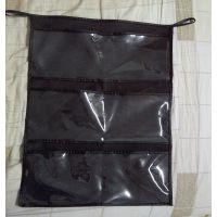 外贸无纺布透明PVC 6格挂袋 珠宝收纳袋 杂物袋 信插袋 批发定制