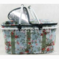 专业生产五金手柄野餐保鲜袋方便实用手提印花保鲜袋