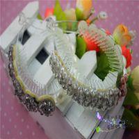 s041韩版精品透明有机亚克力水晶珍珠马尾夹常见地摊头饰批发直销