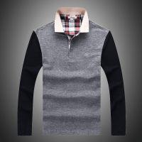 秋装新款 男式长袖T恤 品牌男装网眼长袖男POLO衫时尚打底衫