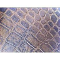 供应尊美皮革供应沙发牛皮革双色鳄鱼纹