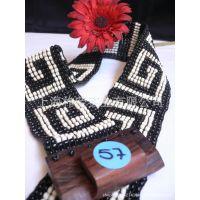 [厂家直销]木扣串珠腰带 珠编腰带 珠织腰带 编织腰带 串珠腰带