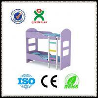 儿童耐用实木双层床 幼儿园家庭专用 QX-197D 广州奇欣专业生产厂家