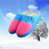 冬天可爱包跟棉拖鞋秋冬季男女情侣居家厚底防滑室内毛拖鞋家居鞋