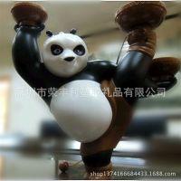 厂家定制 日本卡通动漫公仔 PVC玩具 功夫熊猫