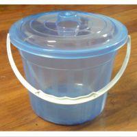 透明塑料小桶 美术水桶 洗笔筒 收纳桶 带盖小水桶 洗笔桶